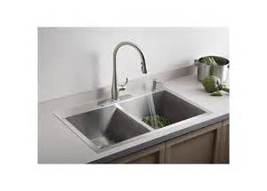 kohler kitchen sink faucets faucet k 3820 4 na in stainless by kohler
