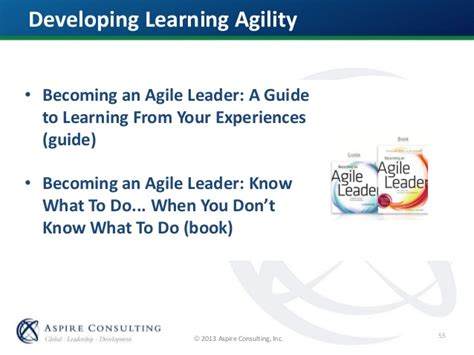 learning agility the key to leader potential books leading in a vuca world terrell