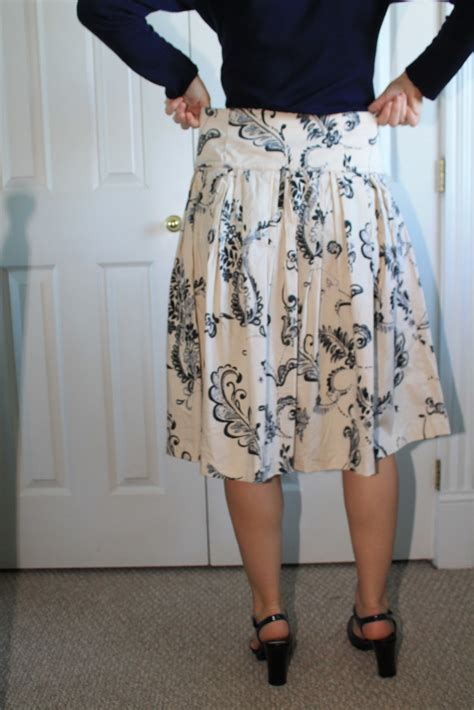 draped skirt tutorial creating in the gap spring twenty thirteen