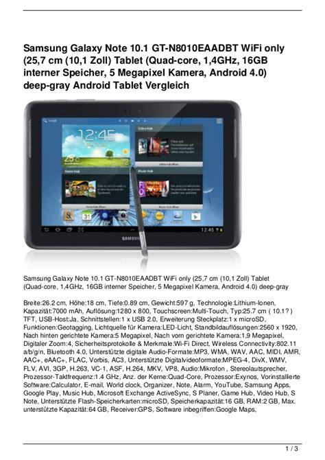 Samsung Galaxy Tab Kamera Depan samsung galaxy note 10 1 gt n8010eaadbt wifi only 25 7 cm 10 1 zoll