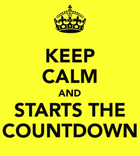 Its The Countdown by Keep Calm And Starts The Countdown Beatha And Boys