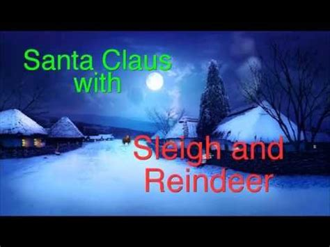 where to buy a sled and reindeer for the roof of your house santa with sleigh and reindeer dvd rv193