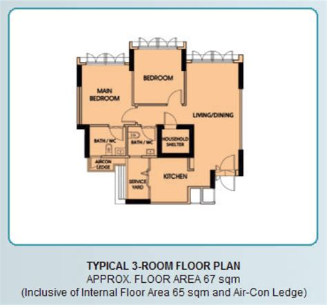 3 room floor plan new bto flats floor plan 3 room bto flat