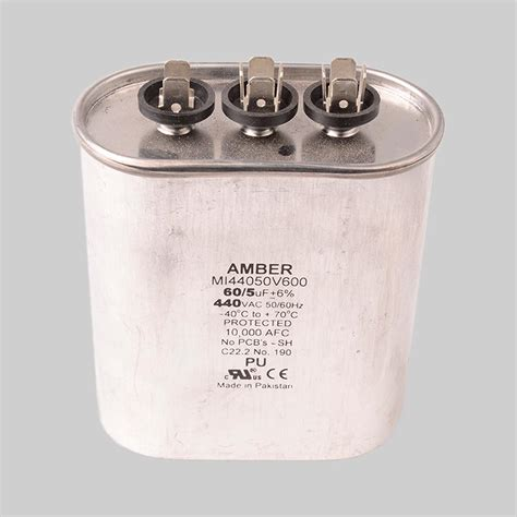 capacitor tariff code motor run capacitor 440vac dual capacitance metal oval can diversitech
