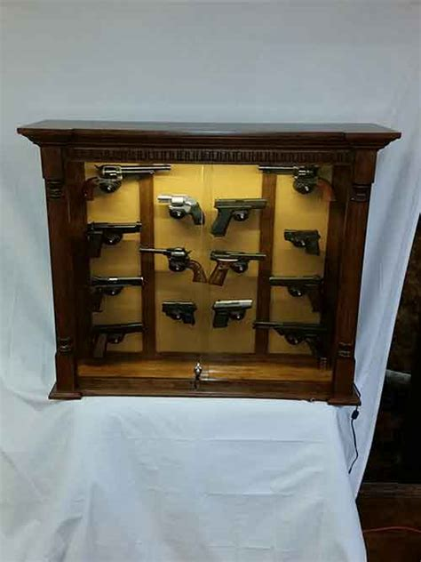 custom wall cabinet amish custom rustic cherry 14 pistol wall cabinet amish