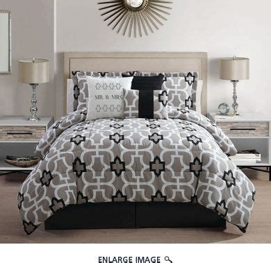 mr and mrs bedding 7 piece king mr and mrs print comforter set bedding