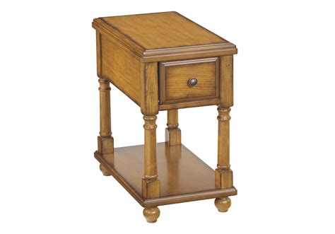 Overstock End Table by Breegin Light Brown Chairside End Table