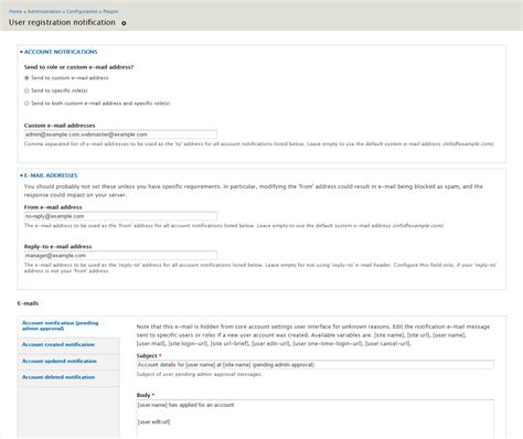 Drupal Theme User Register Form | user registration notification drupal org