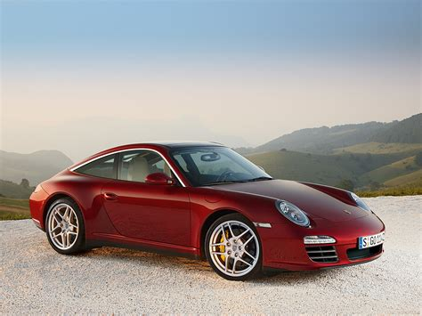 red porsche 911 2009 red porsche 911 targa 4 wallpapers