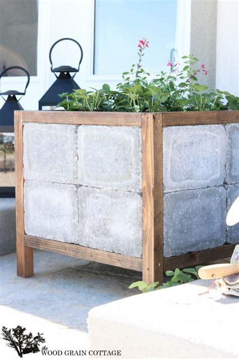 Concrete Paver Planters by Diy Paver Planter The Wood Grain Cottage
