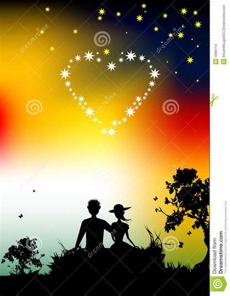 images of lovers couple of lovers silhouette sunset in nature stock images
