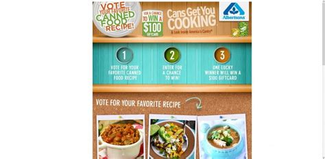 Food Sweepstakes - albertsons favorite canned food sweepstakes