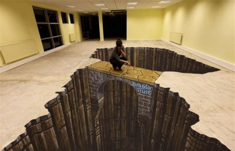 bathroom floor illusions amazing 3d floors an optical illusion