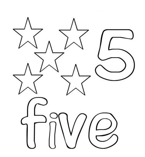 Number 5 Coloring Pages For Toddlers by Learn Number 5 With Five Coloring Page Learn Number