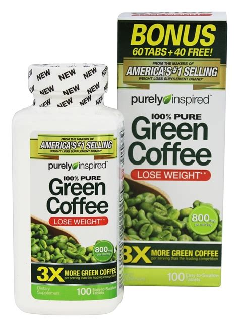 Green Coffee 100 Tablets buy purely inspired 100 green coffee bonus size 100 tablet s at luckyvitamin
