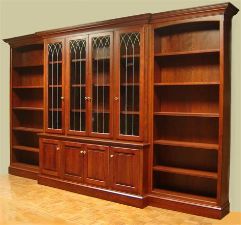 photo  large solid wood bookcase