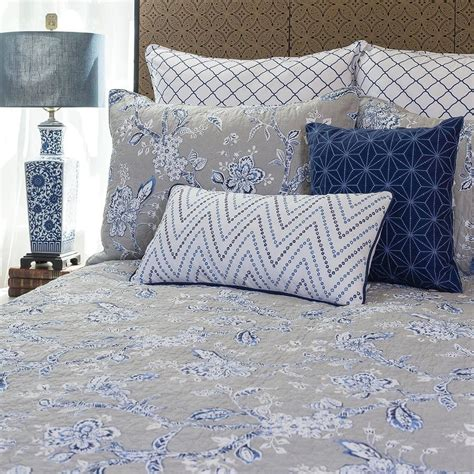 c and f bedding blue annabelle twin quilt 66 quot x 86 quot c f enterprises