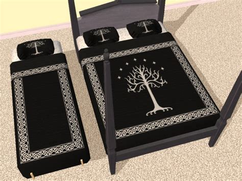 lord of the rings bedding mod the sims lotr bedding 3