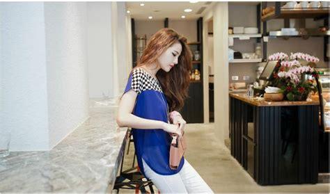Atasan Wanita Kotak Kotak Prelovedbekassecond atasan wanita korea model kotak kotak simpel model terbaru jual murah import kerja