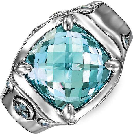 Batu Blue Topaz I231 hardy batu bamboo cushion ring in blue blue topaz lyst