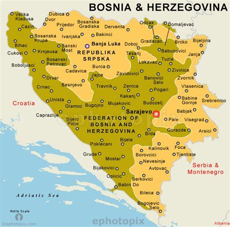 bosnia map bosnien herzegovina geographischen karte