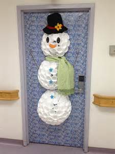 Snowman Door Decorations by Snowman Door Decoration Craft Ideas