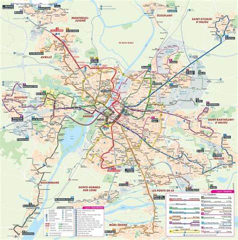 angers map angers tram and map