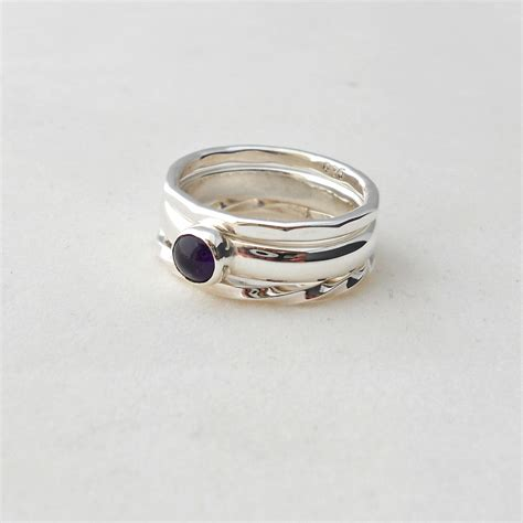 etagere 3 stöckig silber stacking rings set of 3 size p the busy box room
