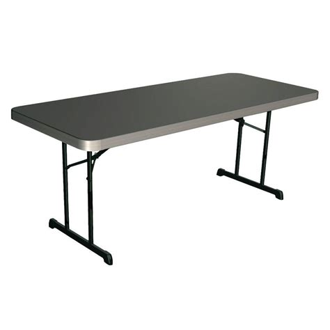 8 foot folding table home lifetime 6 ft rectangle commercial folding table and 8