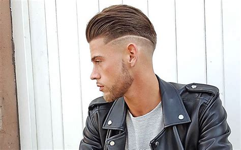 view from back of pompadour hair style 16 cool shaved sides hairstyles haircuts for men