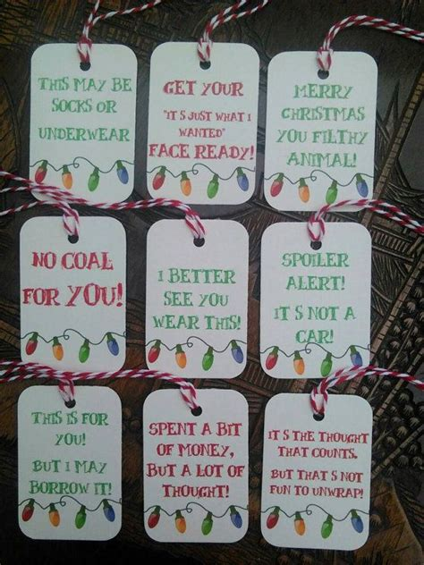 christmas humor funny gift tags by sparklydream on etsy