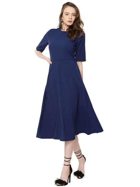 Mididress Flare Blue buy femella fit flare midi dress for s blue multi green midi dresses in india