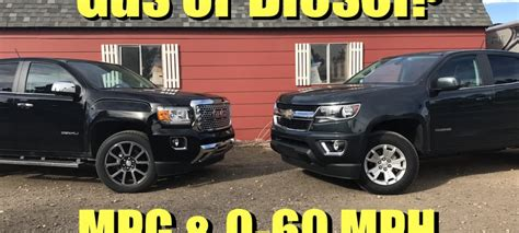 chevy colorado vs gmc chevy colorado diesel 0 60 times autos post