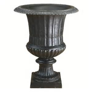 cast iron black fluted urn planter
