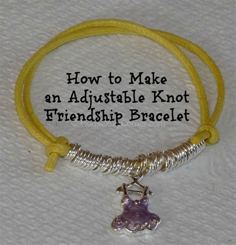 How To Make Knot - how to make an adjustable knot pippin friendship charm