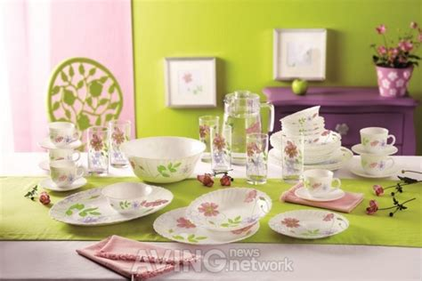 Dinner Set Flower Series 16 S luminarc a tableware brand to release anemone