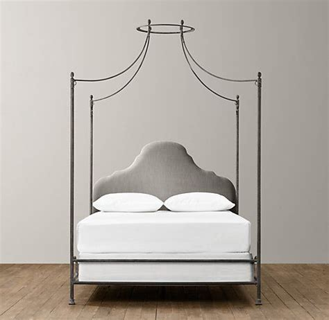 iron canopy bed allegra iron canopy bed to furnish pinterest
