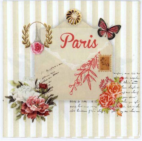 Paper Napkin Decoupage - decoupage paper of letter from