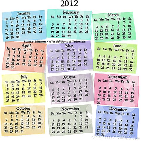 Calendario De Meses Calendario Png Con Los Meses Dias 2012 By Lunita