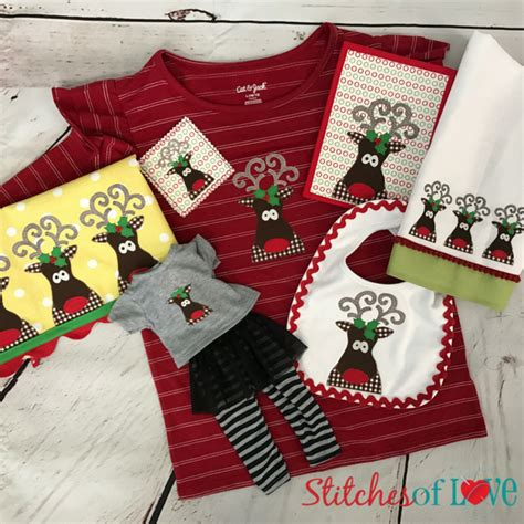 Dashing Collection by Dashing Rudolph Machine Embroidery Files Stitches Of