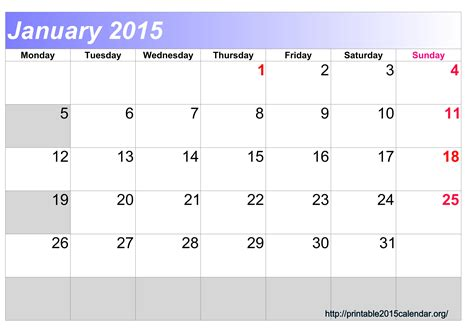 january 2015 calendar template 5 best images of january 2015 printable yearly calendar
