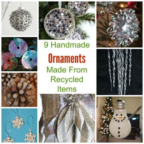 handmade ornaments   recycled items recycled