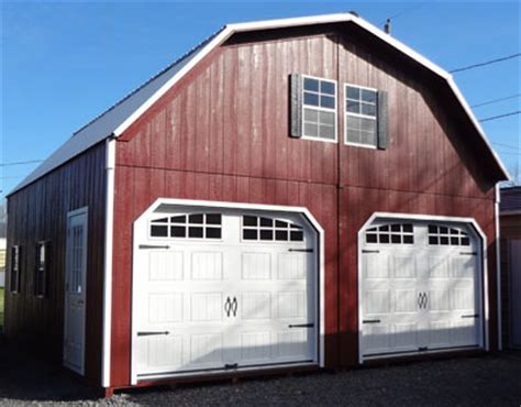 Two Story Garage Cost by Amish Built Wood Garage Prices For Virginia And West Virginia