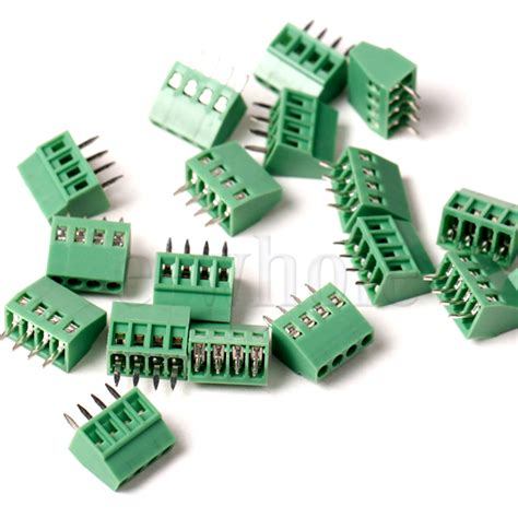 Terminal Connector 3pin Pitch 7 6mm Side Entry 5x 4 way 4 pin terminal block connector 2 54mm pitch