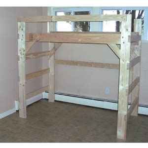 Loft Bed Kits For College The Manhattan Heavy Duty Solid Wood 198 Loft Bed Bunk