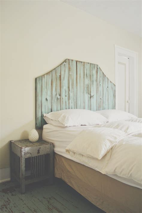 Distressed Headboard by The Blue Atlas Wooden Distressed Headboard