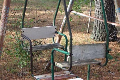vintage glider swing an old glider swing set fun childhood pinterest