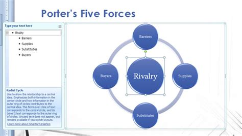 Porter S Five Forces Model In Powerpoint 2010 Presentation Five Forces Model Ppt