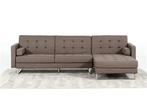 divani casa smith modern brown fabric sectional sofa divani casa smith modern brown fabric sectional sofa