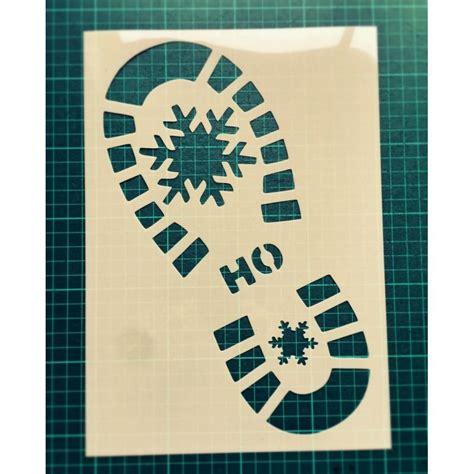 printable elf footprints santa claus shoe print stencil santa footprint stencil